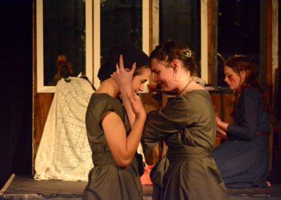 Macduff Daughter, Lady Macduff and Lady Macbeth. Photo credit: Bonnie Leigh-Dodds.