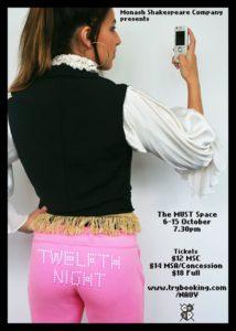 Twelfth Night | Monash Shakespeare Company @ The MUST Space, Building 10, Monash University | Clayton | Victoria | Australia