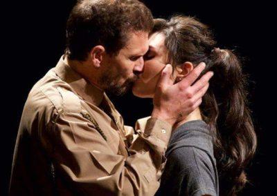 Hugh Sexton as Macbeth and Ashleen Mauthor as Lady Macbeth. Photography by Roberts Birze.