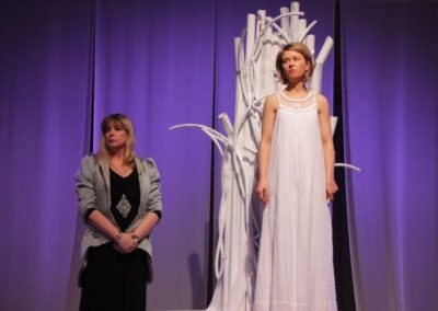 Katherine Innes as Hermione and Angelique Malcolm as Paulina. Photography by Ken Miller