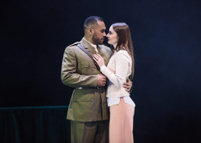Ray Nee Chong as Othello and Elizabeth Nabben as Desdemona. Photography by Daniel Boud.