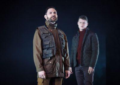 Yalin Ozucelik as Iago and Edmund Lembke-Hogan as Roderigo. Photography by Daniel Boud.