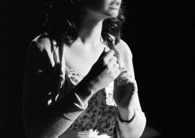 Georgie Mitchell as Juliet.