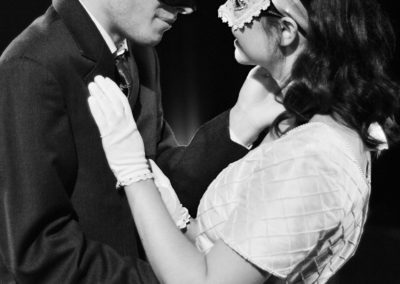 Carter Smith as Romeo and Georgie Mitchell as Juliet.